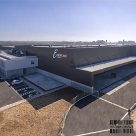 Vista aérea de unidade industrial  - Eurocast Estarreja